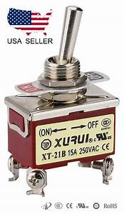 Heavy Duty Dpst  On -off Momentary Toggle Switch
