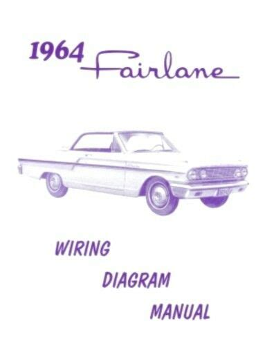 Ford Fairlane Wiring Diagram Manual Ebay