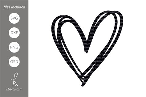 Find & download free graphic resources for heart svg. Sketched Heart SVG Cut Files (192996)   Illustrations ...