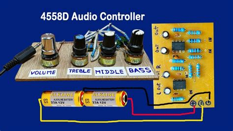 Audio Volume Controller Circuit Bass