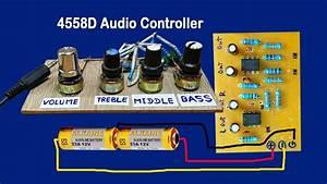 Ic 4558d Audio Volume Controller Circuit