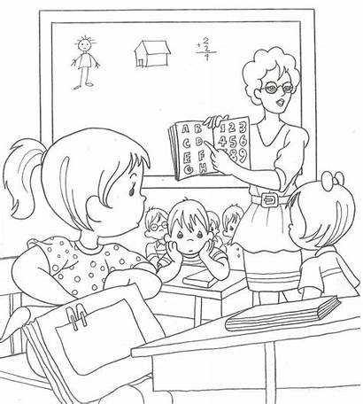 Teacher Classroom Drawing Class Drawings Colorings Paintingvalley