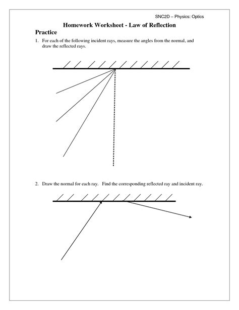 16 best images of science worksheets on reflection light