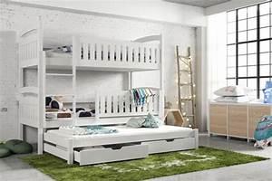 Etagenbett 3 Personen : stapelbed ray voor 3 personen 90x200cm 3 gratis matrassen ~ Orissabook.com Haus und Dekorationen
