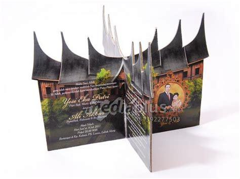 mp  undangan hardcover bentuk gadang cetak undangan