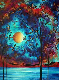Abstract Moon Paintings