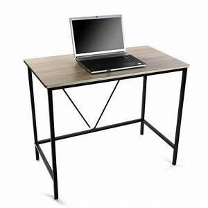 Bureau Bois Metal : petit bureau informatique bois metal versa 90 cm ~ Teatrodelosmanantiales.com Idées de Décoration