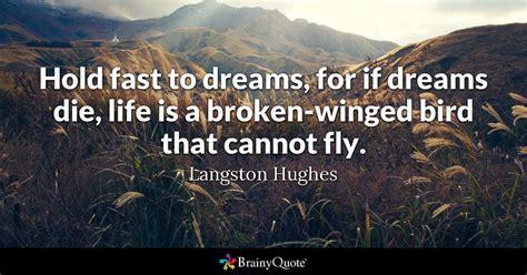 hold fast  dreams   dreams die life   broken