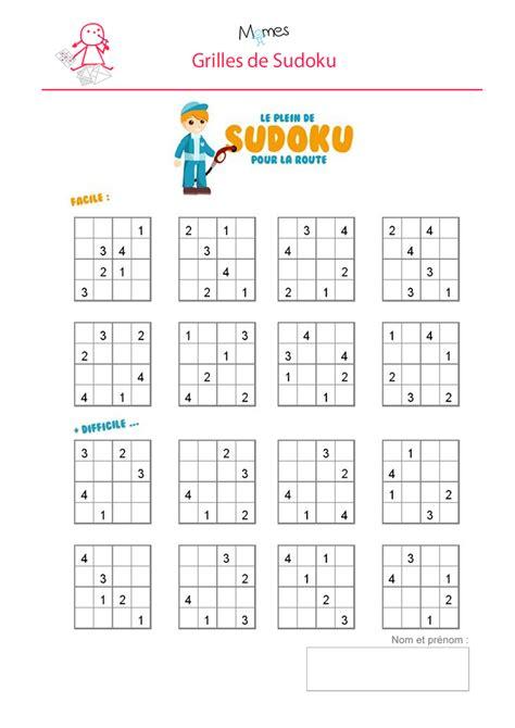 beaucoup de jeux de cuisine sudoku enfant à imprimer momes