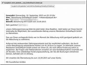 Abrechnung Online Pay Gmbh : warnung vor der e mail abrechnung onlinepay24 gmbh ~ Themetempest.com Abrechnung