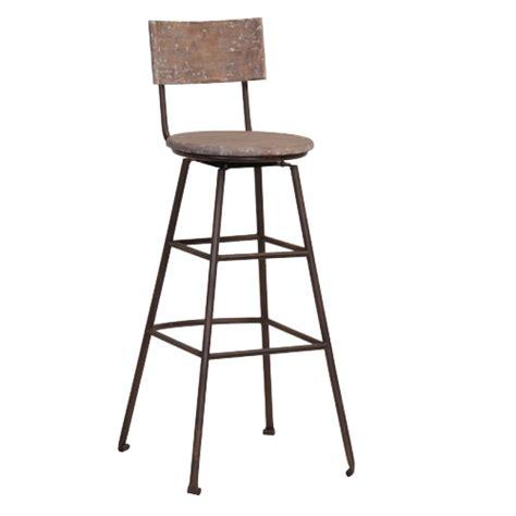 chaise de bar en bois chaise de bar en bois recyclé et métal