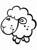 Lamb Coloring Pages Animals Printable Colors sketch template