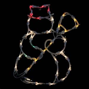 Northlight, 15, In, Lighted, Snowman, Christmas, Window, Silhouette, Decoration-32606068