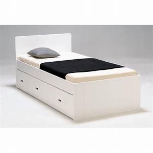 Lit Ikea Avec Tiroir : lit 1 personne ikea bois blanc tres bon etat 90x200 chambre des filles pinterest lit ~ Mglfilm.com Idées de Décoration