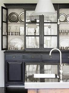 Glass front cabinets transitional kitchen atlanta for Kitchen cabinets lowes with art glass wall art