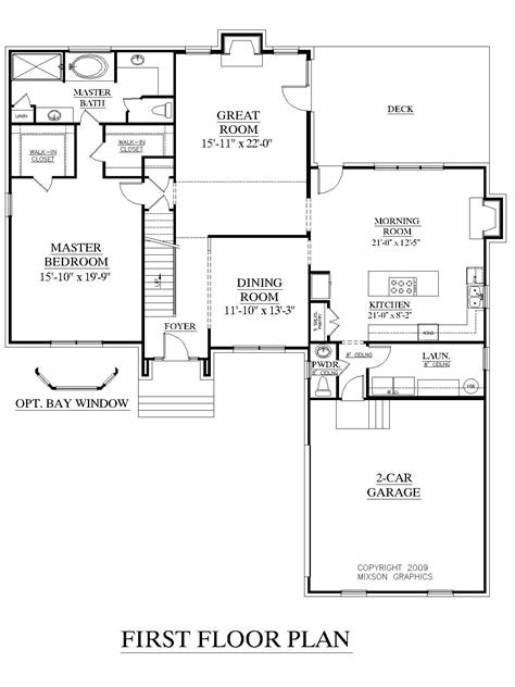 House plans 1st floor master bedroom   Home design and style