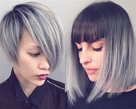 hair color trend  women silver  gray
