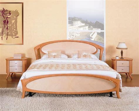 cherry and maple high gloss finish stylish bedroom set