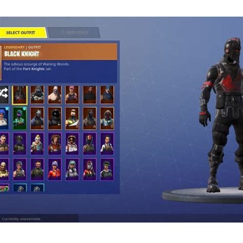 fortnite black knight account full acess toys games
