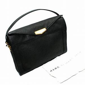 Marc By Marc Jacobs Black Genuine Leather Large Clutch ...