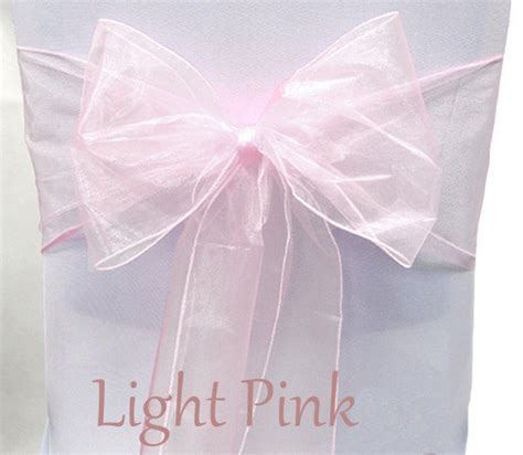 organza chair sashes light pink 8 x 108 wedding birthdays