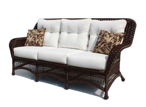 outdoor wicker sofa princeton shown in brown wicker