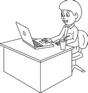 principal039s office clipart black and white free black and white technology outline clipart clip