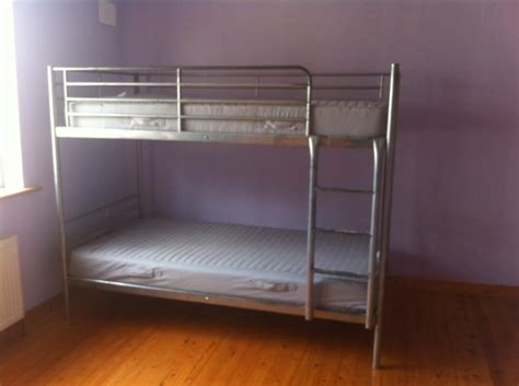 Ikea Svarta Bunk Bed by Ikea Svarta Silver Bunk Bed Frame With Mattresses For Sale