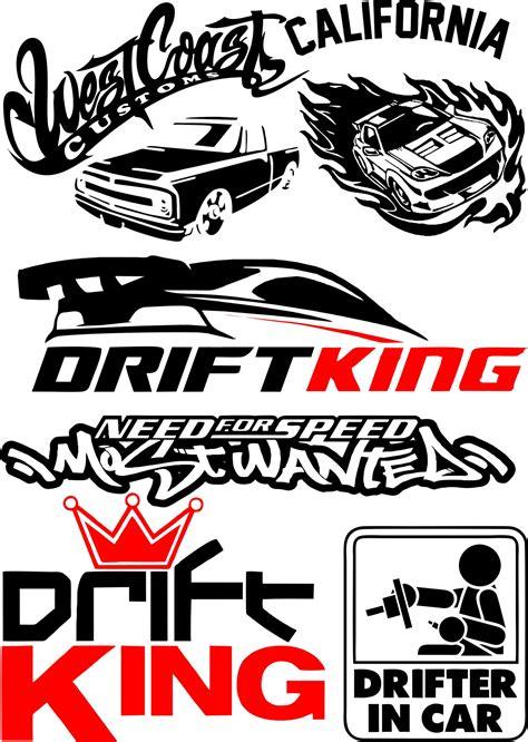 vinyl stickers drift  car vector pack  vector cdr