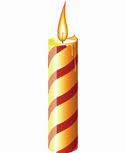 Candle Candles Clipart Christmas Flame Church Clip