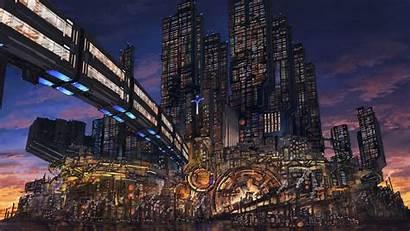 Cyberpunk Fantasy Sci Fi Wallpapers Bridge Cyber