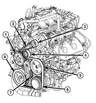 2000 Chrysler 3 8 Engine Diagram by 10 Chrysler Town Country Touring 3 8l Serp Belt Diagram
