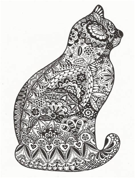 Cat Zentangle  Displaying (19) Gallery Images For