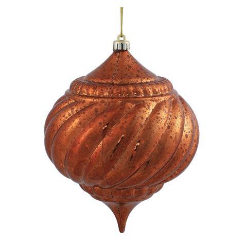 vickerman 375587 6 quot copper shiny mercury onion ball