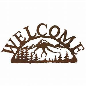 Mountain, Scene, Welcome, Sign