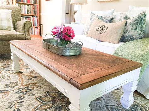 How to build an easy farmhouse coffee table with ready to build legs. 25 Best DIY Farmhouse Coffee Table Ideas and Designs for 2020