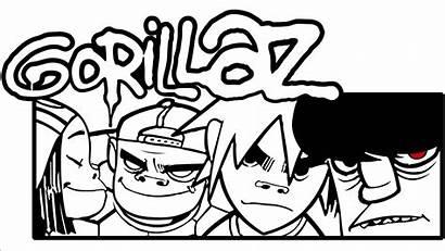 Gorillaz Noodle Murdoc Russel Niccals Dibujos Cartoon