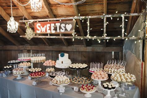 wedding dessert bars pretty happy love wedding