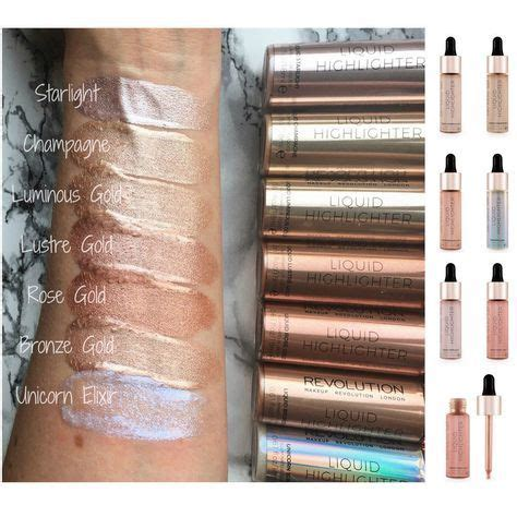 makeup revolution highlighter liquid highlight drops vegan cruelty    makeup