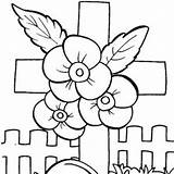 Memorial Coloring Clipart Printable Cards Clip sketch template