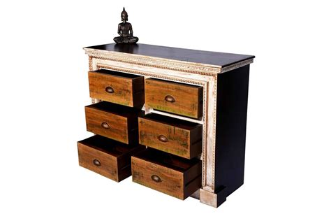 hoary color buy hoary design rustic finish wide chest of drawer bed