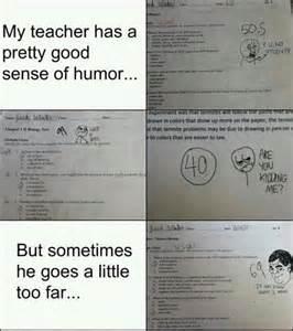 Funny Teacher Test Answers