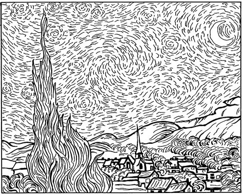 van gogh coloring pages  adults