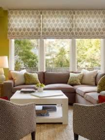 Living Room Window Treatments Roman Shades Picture