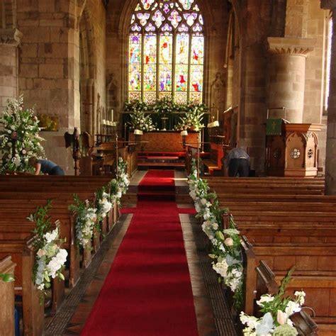 altar wedding decor church wedding decorations altar flowers aisle pew ends Church