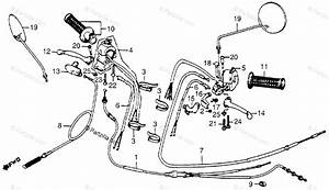 Honda Motorcycle 1982 Oem Parts Diagram For Control Levers