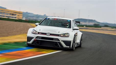 wallpaper volkswagen golf gti tcr race car white cars