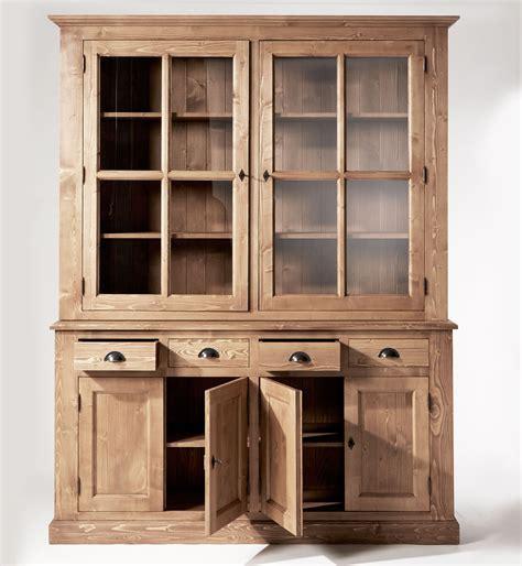 banc pour ilot de cuisine buffet vaisselier bois ciré miel 6 portes 4 tiroirs made