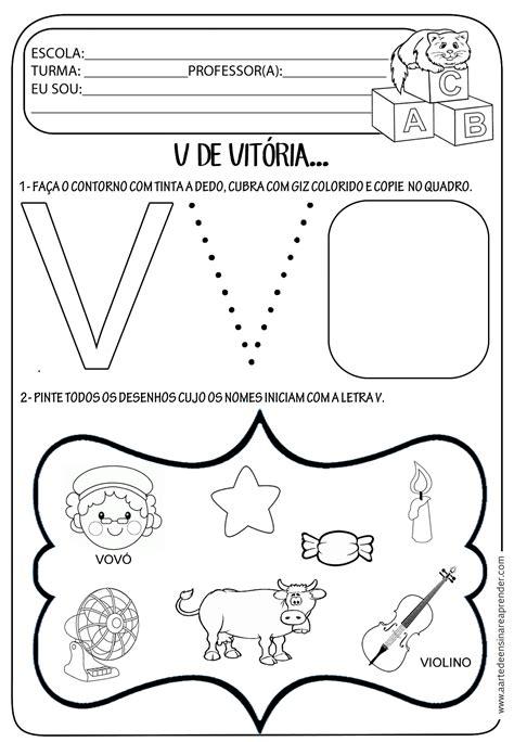 atividade pronta letra v atividade do grupo 5 atividades letra e atividades vogais