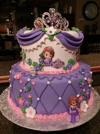 sofia   birthday cake sofia fondant cake